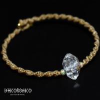 ハーキマーダイヤモンド(水晶)原石とオパールのブレスレット