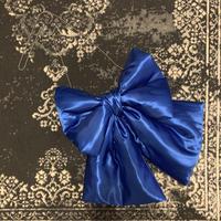リボンポシェット:ブルー
