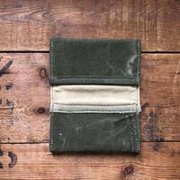 """card case 2 pockets """"1940's khaki twill"""""""