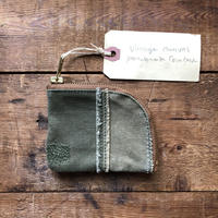 vintage canvas coin case (040)