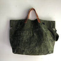 #876 1960's duffle messenger bag