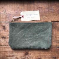 Vintage canvas pouch (052)