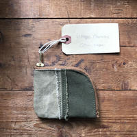 vintage canvas coin case (060)