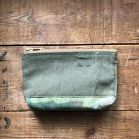 1960's canvas & 60' green leaf camo pouch