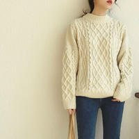 Vintage like Aran Knit 送料無料