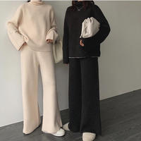 3color:High neck Knit up 90253 送料無料