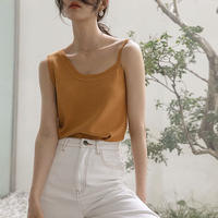 2color:Asymmetry Knit Tanktop 90200   送料無料