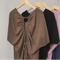 【即納】 5olor : Back open Tie One-piece  90205  送料無料