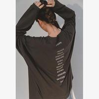 Back EUROPE Print Long T-shirts   181 送料無料