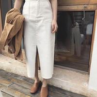 【即納】4color:Stretch Pencil Baker Skirt 送料無料