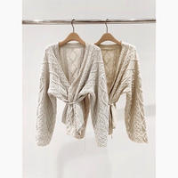 2color:Aran Knit Cardigan 送料無料