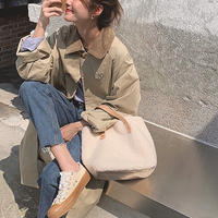 Corduroy collar Over Coat 134 送料無料