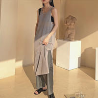 【即納】2color : Side Slit Mesh Dress 177 送料無料