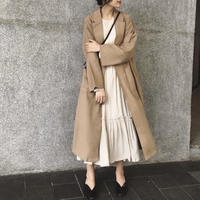 Loose Long Gown Coat    送料無料