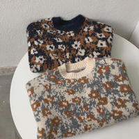 Retro flower Pattern Knit 90279 送料無料