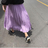 Crinkle Pleats Skirt 168 送料無料