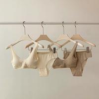 ◾️SALE◾️ 2color : Natural Cotton Bra Top & Shorts Set 188 送料無料