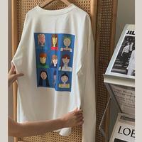 Girls Art Print Long T-shirts 90242 送料無料