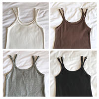 4color:Double Strap Cami Tanktop 送料無料
