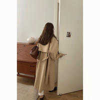 Dolman Sleeve Long Trench Coat 90227