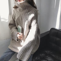 4color: High neck Mix  Rib Knit 送料無料