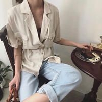 2color:Linen Summer Shirts 送料無料
