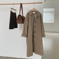《Mocha》Soutien Collar Wool Coat 90260 送料無料
