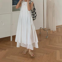 2color:Layered Pleats Dress 90202   送料無料