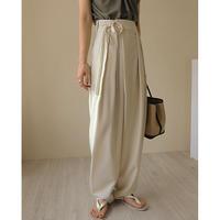 3color : Waist Tie Wrap Pants 90206 送料無料