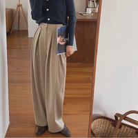 2color :  Double Tack Wide Pants 90222 送料無料
