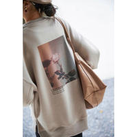 Rose Photo Print Sweat   90287 送料無料