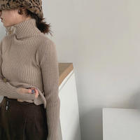 6color : Fingerhole Turtleneck Rib Knit 90270 送料無料