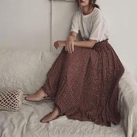 【即納】3color:Dot Pleats Skirt 送料無料