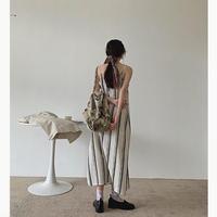 Linen Stripe Dress 90294 送料無料