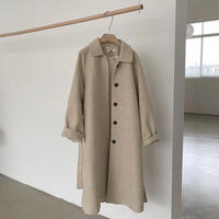 《Oatmeal》Soutien Collar Wool Coat 90260 送料無料