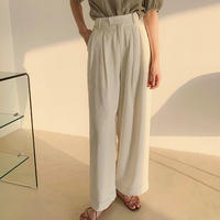 4color : Lyocell Long Tuck Pants 189 送料無料