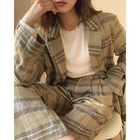 Linen 100% Check Jacket  & Sacoche 179 送料無料