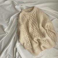 2color : Loose Aran Knit 90234 送料無料