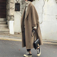 Wool 80% Hand made Long Coat  148   送料無料