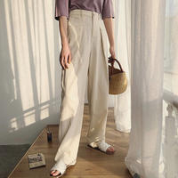 2color : Highwaist Tuck Pants  174 送料無料
