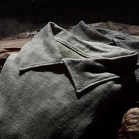 WILDFRÄULEIN71 ''linen jersey polo cutsew'' ivory and beige