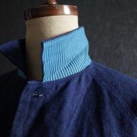 """WILDFRÄULEIN71  Antique fabric shirt """"Indigo linen x stripe cotton"""""""