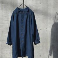 """WILDFRÄULEIN71 """"indigo linen smock coat"""""""