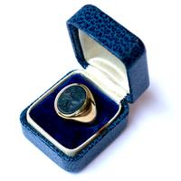 "British 1930's ""Birmingham"" upper class 18k gold ring"
