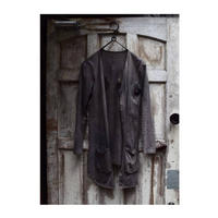 "WILDFRÄULEIN71 ""Black persons dye cutsew cardigan"" 泥染め×墨染 ver."