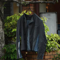 "Jobi fret roop ""blue gauze shirt jacket blouson"""