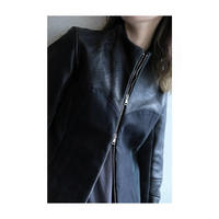 "Roop fret ""single leather blouson black"""