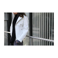 "Roop fret ""white snow spring riders jacket"""