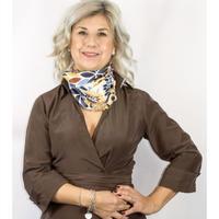 バルサンティ イタリア製 スカーフネックレス(ラインストーンフック)イエロー