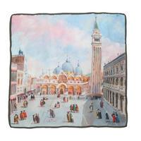 バルサンティ イタリア製コモシルクスカーフ サンマルコ広場 85x85